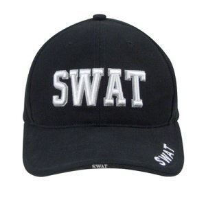 Swat Gear Costume (Rothco Deluxe Swat Low Profile Cap, Black)
