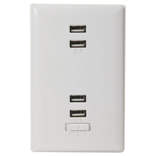 RCA Wall Plate Charger White