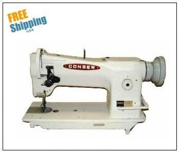 Consew 206RB-5 Walking Foot Industrial Sewing Machine with Table and Servo Motor (Industrial Machine Table Sewing)
