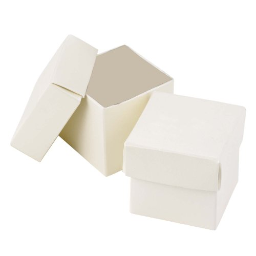 Hortense B. Hewitt Wedding Accessories 2-Piece Favor Boxes, Ivory Shimmer, Pack of 25