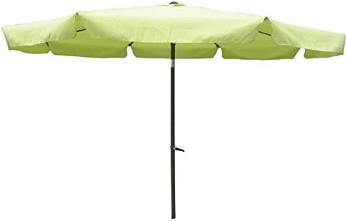 International Caravan Furniture Piece Outdoor 10 Foot Aluminum Umbrella with Flaps