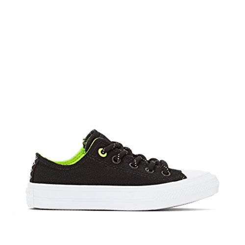 Converse Chuck Taylor All Star II Shield Canvas Junior Black Textile Trainers negro