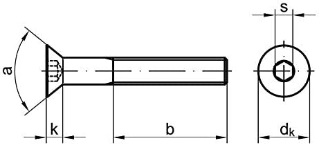 50 Stk Senkschraube DIN 7991 8.8 M6 x 55 verzinkt