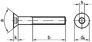 25 Stk Senkschraube DIN 7991 10.9 M8 x 60 galv verzinkt A2F getempert gal Zn