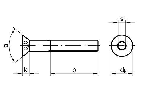 5 Stk Senkschraube DIN 7991 8.8 M14 x 30 verzinkt
