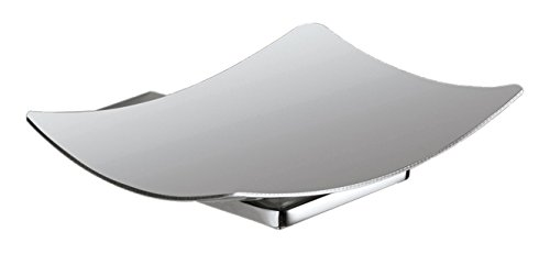 - Gedy 3811-01-13 Wall Mounted Square Chrome Soap Dish,