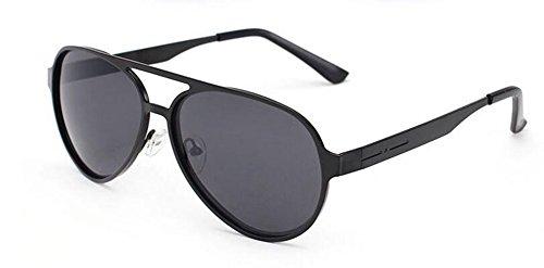 retro du style Lennon de vintage inspirées polarisées soleil en métallique lunettes Film Noir rond cercle wAYIqXI