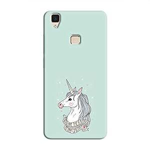Cover It Up Rainbow Unicorn Hard Case For Vivo V3 - Multi Color