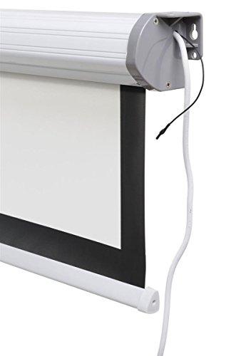 Displays2go, Motorized Projector Screen, Aluminum, Fiberglass, and PVC Construction – Black (PRSELE108) by Displays2go (Image #5)