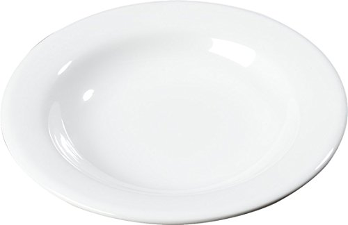 Carlisle 3303402 Sierrus Melamine Pasta / Salad Bowls, 11-oz., White (Set of 24) ()