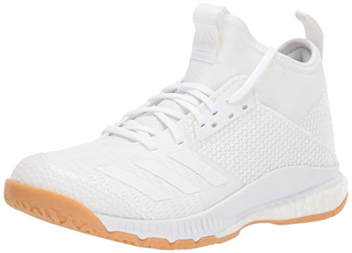 (adidas Women's Crazyflight X 3 Mid Volleyball Shoe, White/Gum, 10.5 M)