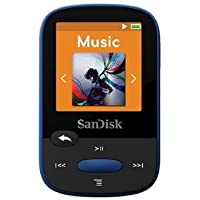 SanDisk SDMX24-008G-A46B Clip Sport SDMX24-008G 8 GB Flash MP3 Player - Blue - FM Tuner - 1.4 inch - microSDHC - MP3, AAC, Audible, FLAC, Ogg Vorbis, WAV, WMA - 25 Hour