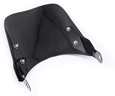 SODIAL Motorcycle Headlight Fairing Windshield Windscreen Compatible for Triumph Bonneville 2001-2017,T100 2003-2017 Black