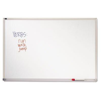 Melamine Whiteboard, Aluminum Frame, 72 x 48, Sold as 1 Each