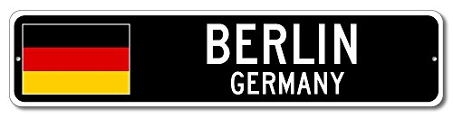 Germany Flag Sign - BERLIN, GERMANY - German Custom Flag Sign - 9