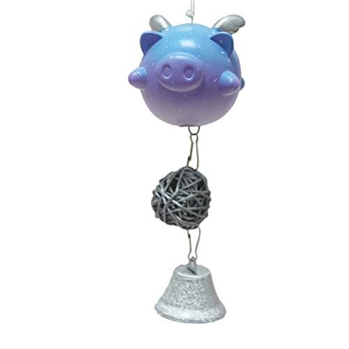 YeahiBaby Carillones de Viento de Cerdo Colgando Campana de Viento Al Aire Libre Adornos de Interior en Forma de Animal...