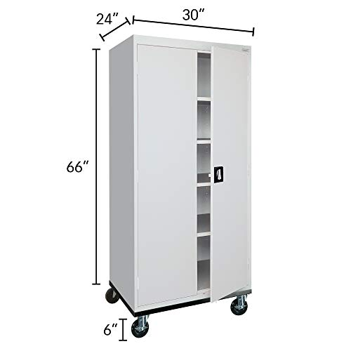 Sandusky Lee TA4R302466-05 Transport Series Mobile Storage Cabinet, Dove Gray
