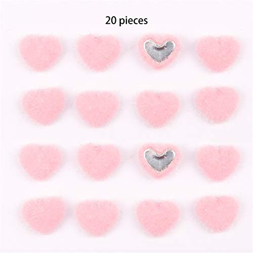 (6Pcs/Lot Cute Hair Accessories 2.5'' Heart Patch Grosgrain Ribbon Hair Clips For Girls/Kids Hairgrips Valentine's Day Hair Bows Pink Heart patch)