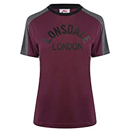 Lonsdale Womens Long Line Crew T Shirt Neck Tee Top Short