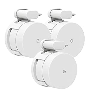 Wall Mount Bracket for Google Wifi,Fits Snugly to Google Wifi,Best Design for Winding Power Cord (New-3 Pack)