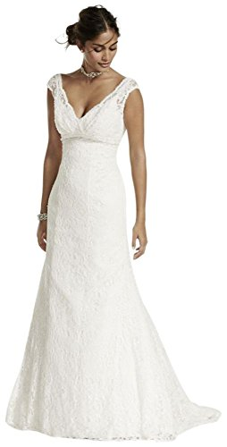 Mancherons Robe De Mariée En Dentelle De Perles Petite Mariée De David Le Style 7t9612 Ivoire