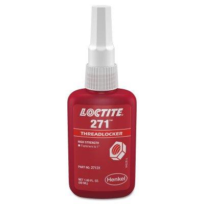 Loctite 271 High Strength Threadlocker, 0.5 mL Tube, Red