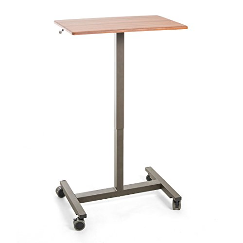 Seville Classics Airlift Pneumatic Laptop Computer Mobile Desk Cart H, Height-Adjustable from 29.3