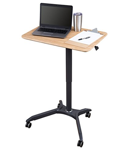 Breakroom Carts - Pneumatic Adjustable Height Laptop Desk Cart (28