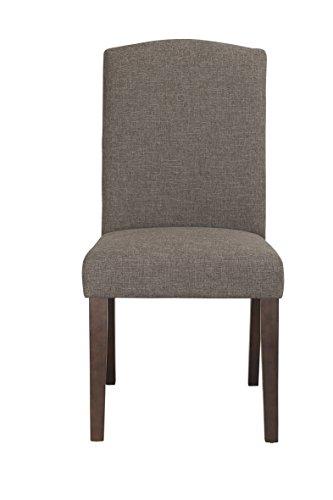 Boraam 83618 Champagne Parson Dining Chair, Steel Gray