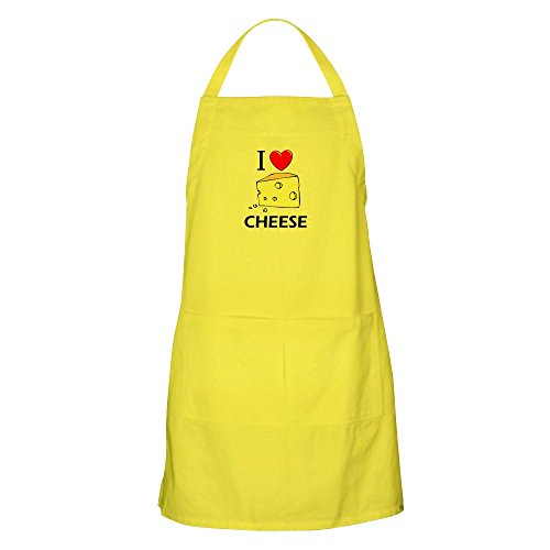 CafePress I Love Cheese BBQ Apron Kitchen Apron with Pockets, Grilling Apron, Baking Apron