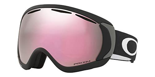 Oakley Canopy Asian Fit Snow Goggle, Matte Black, Large, Prizm Hi Pink Iridium Lens