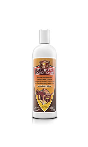 Leather Therapy Leather Care Products - Leather Conditioner and Restorer for Natural Leather -Leather Restoration - Leather Treatment for Dry Leather, Keeps Leather Soft, Helps Leather Last Longer, Helps Save Leather from Drying, Cleans Mold & Mildew Stains, 16 Ounce