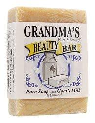 """GRANDMAS 61120 3.5""""x 2.5""""x 9"""" Soap Goats Milk Beauty Bar"""