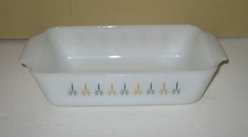 Vintage Anchor Hocking Fire King Candleglow One Quart Glass Loaf Pan Bakeware