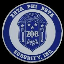(Zeta Phi Beta Sorority Aluminum Car Tag Emblem)
