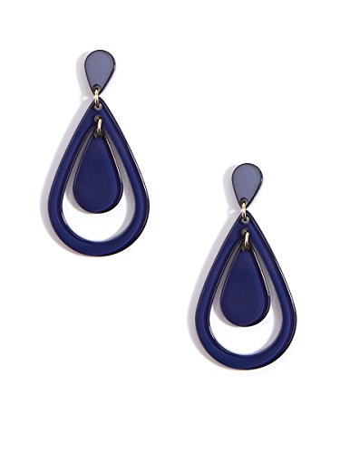 ZENZII Resin Teardrop Cutout Earring (Navy)