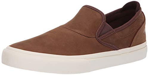 Emerica Men's Wino G6 Slip-ON Skate Shoe Brown 9.0 Medium US