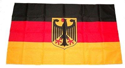 Flagge Fahne Deutschland mit Adler 30 x 45 cm FLAGGENMAE/®