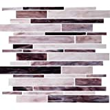 Dazzle Mosaic Stained Glass Tile 12 in. x 12 in. x 3 mm Glass Floor and Wall Tile Stained glass for Kitchen Backsplashes, Bathroom Walls, Spas, Pools by Dazzle Mosaic (10 Pack)