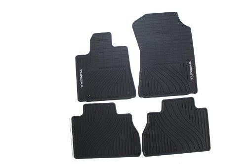 Genuine Toyota Accessories PT908-34101-02 Front and Rear All-Weather Floor Mat (Black), Set of 4 ()