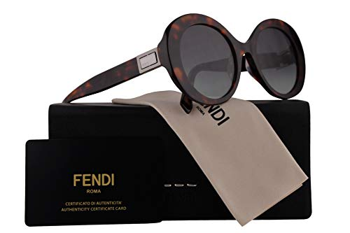 Fendi FF0293/S Peekaboo Sunglasses Dark Havana w/Grey Green Lens 52mm 086IB FF0293S FF 0293S FF 0293/S