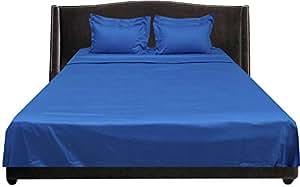 Brightlinen Turquoise Blue Double (135 X 190 Cm) Sheet Set Solid(pocket Size: 34 Cm) 6pcs