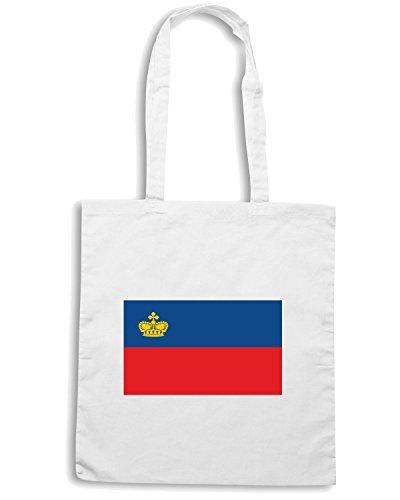 T-Shirtshock - Bolsa para la compra TM0209 Liechtenstein flag Blanco