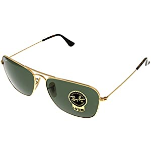 Ray Ban CARAVAN Sunglasses Aviator Gold Mens RB3136 181