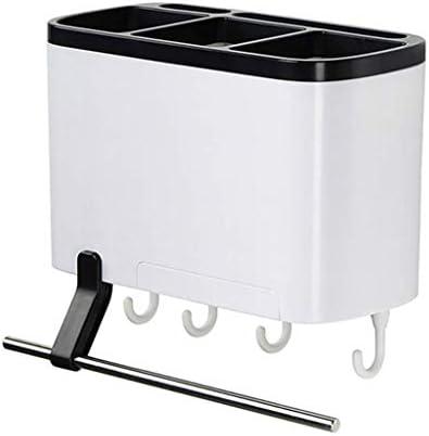 ホームキッチン棚収納皿水切り棚ラックホーム多機能ラック箸置き家庭用吸引壁吊り箸チューブドレンボックス吊り箸ケージ