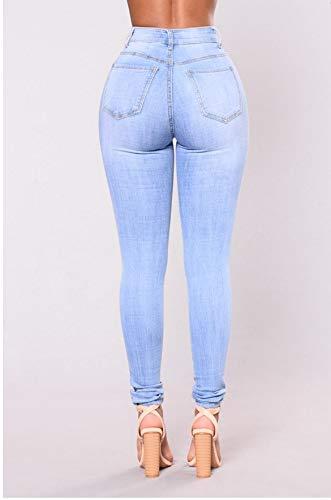 Nuovi Fashion Damengxiang Stracciati Wild Jeans Skinny Immagine Donna Da Colore I a0rwa