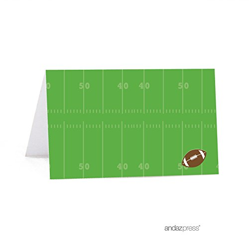 Andaz Press Birthday Printable Table Tent Place Cards, Football Touchdown! Party, 20-Pack (Printable Football)