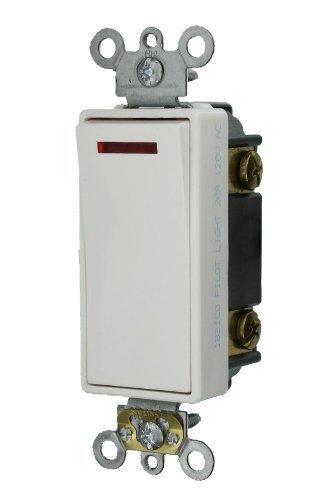 Leviton 5638-2W 20-Amp 120-Volt Decora Plus Rocker Pilot Light Illuminated ON Req. Neutral, 3-Way AC Quiet Switch, ()