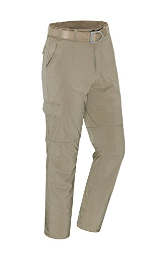 unitop Men's Quick Dry Lightweight Water Resistant Hiking Cargo Pants Light Khaki 34waist/32