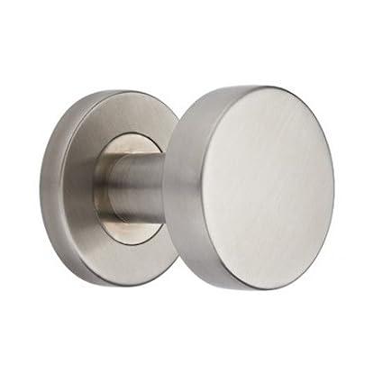 Pomo para puerta pomo Cilindro Forma acero inoxidable giratorio Izquierda Cilindro nuevo